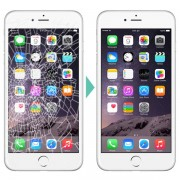 Substituição de display/vidro/lcd/touch de telemóvel iPhone 5 / 6 / 7 / 6 plus