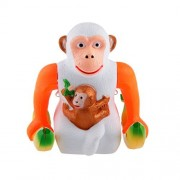 MagiDeal Electric Skip Orangutan Light Music Take Bananas Cartwheel Monkey Kids Toys