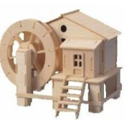 Puzzled Water Mill 3D Jigsaw Woodcraft Kit Wooden Puzzle by Puzzled