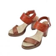Coque Terra Fussbett-Sandalette, 39 - Rot/Orange/Cognacbraun