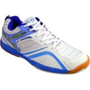 Proase Badminton Shoes(White, Blue)