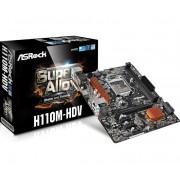 MB, ASRock H110M-HDV /Intel H110/ DDR4/ LGA1151/ micro ATX, retail (H110M-HDV_3Y)