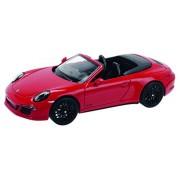 Schuco 450758600 - Porsche 911 Carrera 4 GTS Cabriolet, rosso