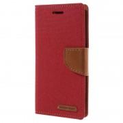 Capa tipo Carteira Mercury Goospery Canvas Diary para Sony Xperia XA, Xperia XA Dual - Vermelho