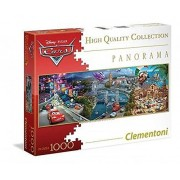 Clementoni 39348 - Puzzle Cars, Panorama Disney Collection, 1000 Pezzi, Multicolore