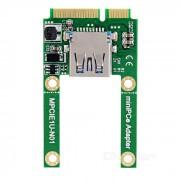 Mini PCI-e to USB Adapter Card Mini PCI-e Extended USB 2.0 Interface Full High / Half High