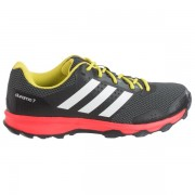 adidas outdoor Duramo 7 Trail Running Shoes BLACKWHITESOLAR RED (01)