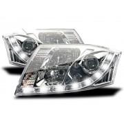 2 Phares LED Audi TT (8N) - Chrome - 2 broches