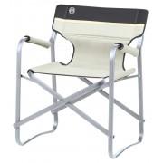 Coleman Deck Chair Taboret kempingowy czerwony/biały Krzesła składane