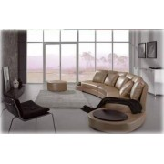 items-france LOUNGE - Canape contemporain cuir 6 places 530x80