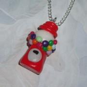 Gumball Machine Pendant Necklace Bubblegum Fimo Charm
