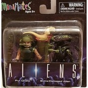 Minimates Aliens - Pvt. Drake & Extra Damaged Alien