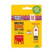 Strontium NITRO UHS1 32GB MicroSD Card with OTG Card Reader