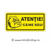 Placheta Caine Rau!