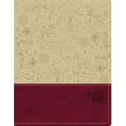 KJV, Beautiful Word Bible, Imitation Leather, Tan/Pink, Red Letter Edition by Zondervan