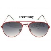 Okulary przeciwsłoneczne - Aviator czerwony