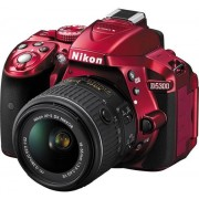 Aparat Foto D-SLR Nikon D5300, Kit AF-P 18-55mm VR, Filmare Full HD, 24.2MP (Rosu)