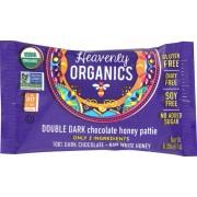 Heavenly Organics Heavenly Organics Chocolate Honey Patties - Double Dark - Case of 40 - 0.39 oz.