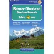 Fietskaart - Wegenkaart - landkaart 1 Holiday Map Berner Oberland   Kümmerly & Frey