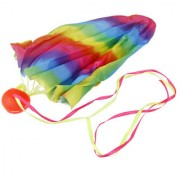 Imported 70cm Rainbow Print Tangle-Free Mini Parachute Sky Flying Kid's Outdoor Toy