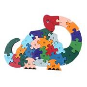 Smile Baby YKK juguete 3d de puzzles de madera de construcción construcción Madera Puzzle multicolor Dinosaurier Talla:Größe:29cm*23cm