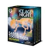 The Goodie Bag Geoworld CL598K - Ice Age Night, Skeleton Sabre Tooth Tiger