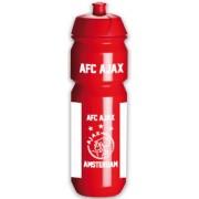 Bidon ajax wit/rood/wit AFC: 750 ml
