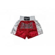 Sort Muay Thai Everlast EM6 Red-White