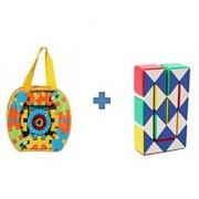 Buy 60pcs Kids Kingdom Blocks Get Magic Cube IQ Puzzle Free