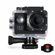 Camera video waterproof Sports Full HD 1080P + card 8 gb si telecomanda wireless, negru