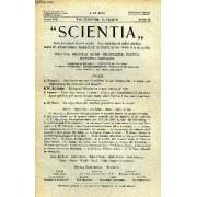 Scientia, Year Xix, Vol. Xxxviii, N° Clxi-9, Serie Ii, 1925, Rivista Internazionale Di Sintesi Scientifica, Revue Internationale De Synthese Scientifique, International Review Of Scientific ...