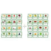 Lote 2 x 16 tarjetas de imagen Fruta y verdura tarjetas de aprendizaje Tarjetas de vocabulario en ambos lados folienkaschiert diferentes tipos de verduras y frutas, así que aprender acordes con la imagen delante de frutas / verduras, Vocabulario / nombre