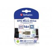 "Memorie USB Verbatim ""Micro"" 16GB USB3.0 + adaptor Micro USB (49825)"