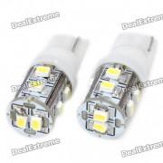 T10 0.8W 55LM 10x3020 SMD LED bombillas de coche blanco (par)