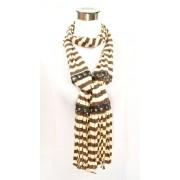 Hippe sjaal met streep design bruin