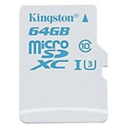 Kingston Digital 64GB microSDHC UHS-I U3 Action Card 90R/45W (SDCAC/64GBSP)