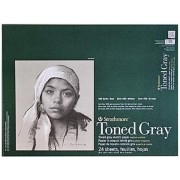 Strathmore 400 Series Toned Sketch Paper Pads Wirebound (Gray) 18 In. X 24 In. 1 Pcs Sku# 1847236 Ma
