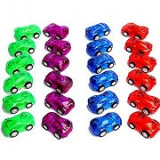 Dazzling Toys 2 Pull Back & Let Go Racer Cars - Pack of 24 Cars - Assorted C...