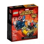LEGO Marvel Super Heroes Mighty Micros: Capitán América vs. Cráneo Rojo - juegos de construcción (Comics, Cualquier género, Multi)