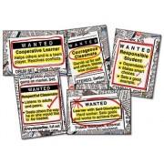 Carson Dellosa - Decoraciones Murales - Bulletin Board Sets - Wanted: Good Character - Grades 3 - 8+