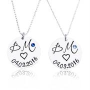Perfect couple - set coliere personalizate argint
