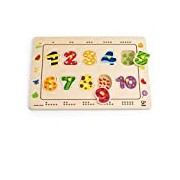 Hape HAP-E1500 Numbers Matching Puzzle