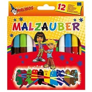 Toys Bhoomi Malinos 12 Piece Malt Magic Color Pen 300005 - MADE IN GERMANY
