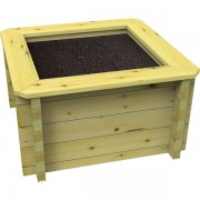 0.5m x 0.5m, 44mm Wooden Raised Bed 429mm High