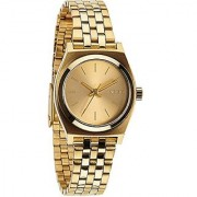 Nixon Small Time Teller Champagne Dial Gold-tone Ladies Watch A399502
