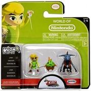 World of Nintendo Micro Land The Legend of Zelda: Windwaker HD Link Makar and Bokoblin Figures