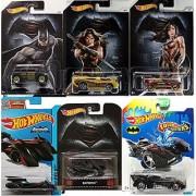 Batman Vs Wonder Woman - Hot Wheels Exclusive - Batwing Retro + Batmobile DC Universe 2016 Super Heroes - Dark Knight Brave & the bold Rockster series