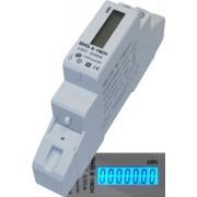 B+G E-Tech DRS155B - Contador de corriente alterna digital con pantalla LCD, vatímetro 5(50) A para carril DIN con interfaz S0 1000 imp/kWh