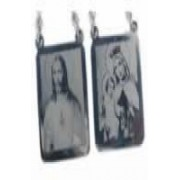 Scapular Steel with engraved photo / photolithographic 15.8 mm x 19.8 mm