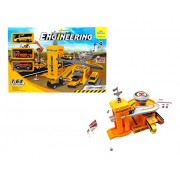 Construct base Engineer, a perfect construction theme - Watch the youngster play with the constructional set-up; let them drive the trucks and manage the engineer pretend!